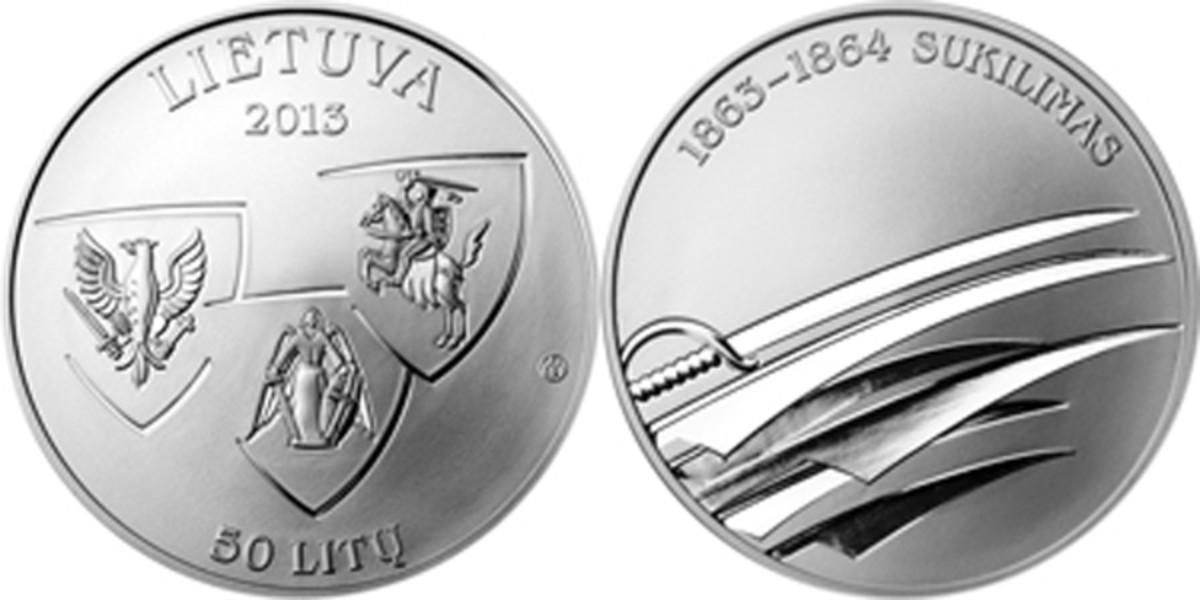2013 Lithuania Sajudis Uprising 50 litu