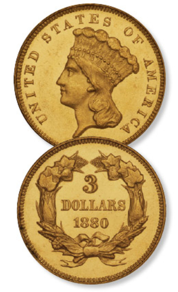 The 1880 gold $3 had a circulation mintage of 21,000. Plus there were 3,955 proofs.