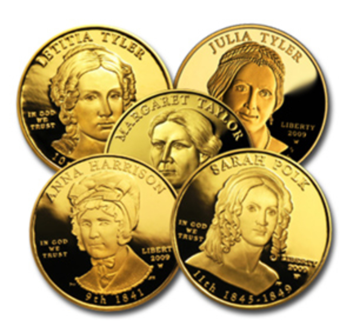Modest appreciation in gold has been a catalyst for the First Spouse coins.