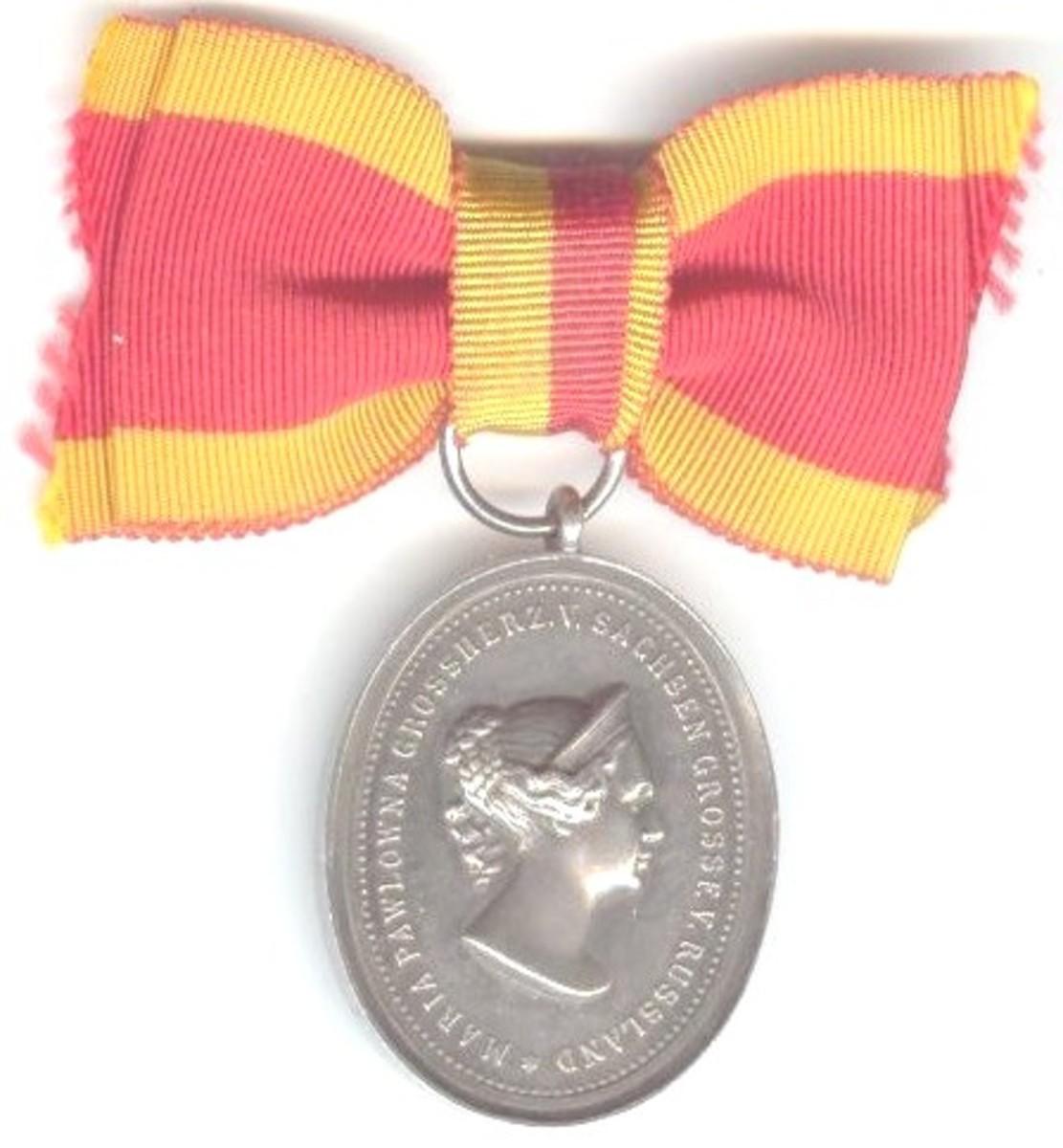 Saxe Weimar medal
