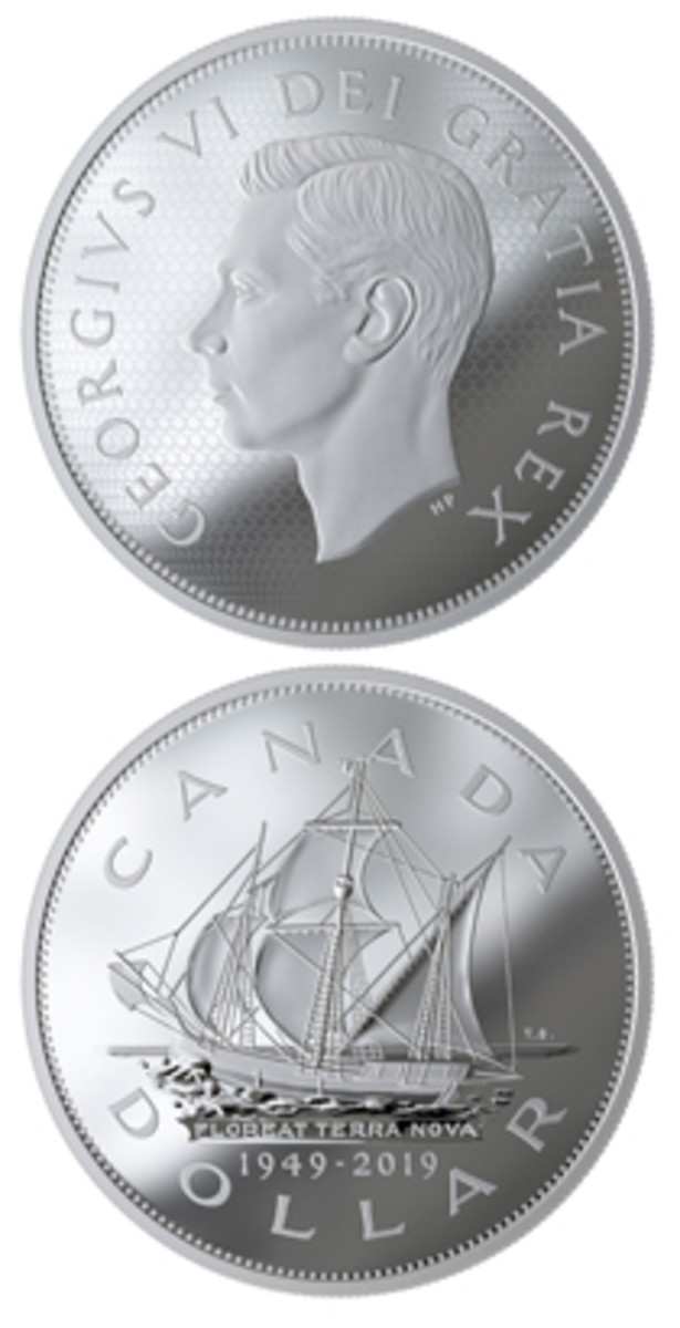A new silver $1 Canadian commemorative marks the 70th anniversary of Newfoundland & Labrador's transformation from a British colony to Canada's newest province.