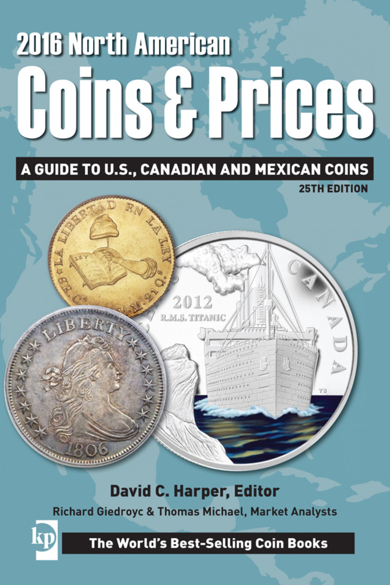 Check out the new 2016 North American Coins and Prices reference book here.