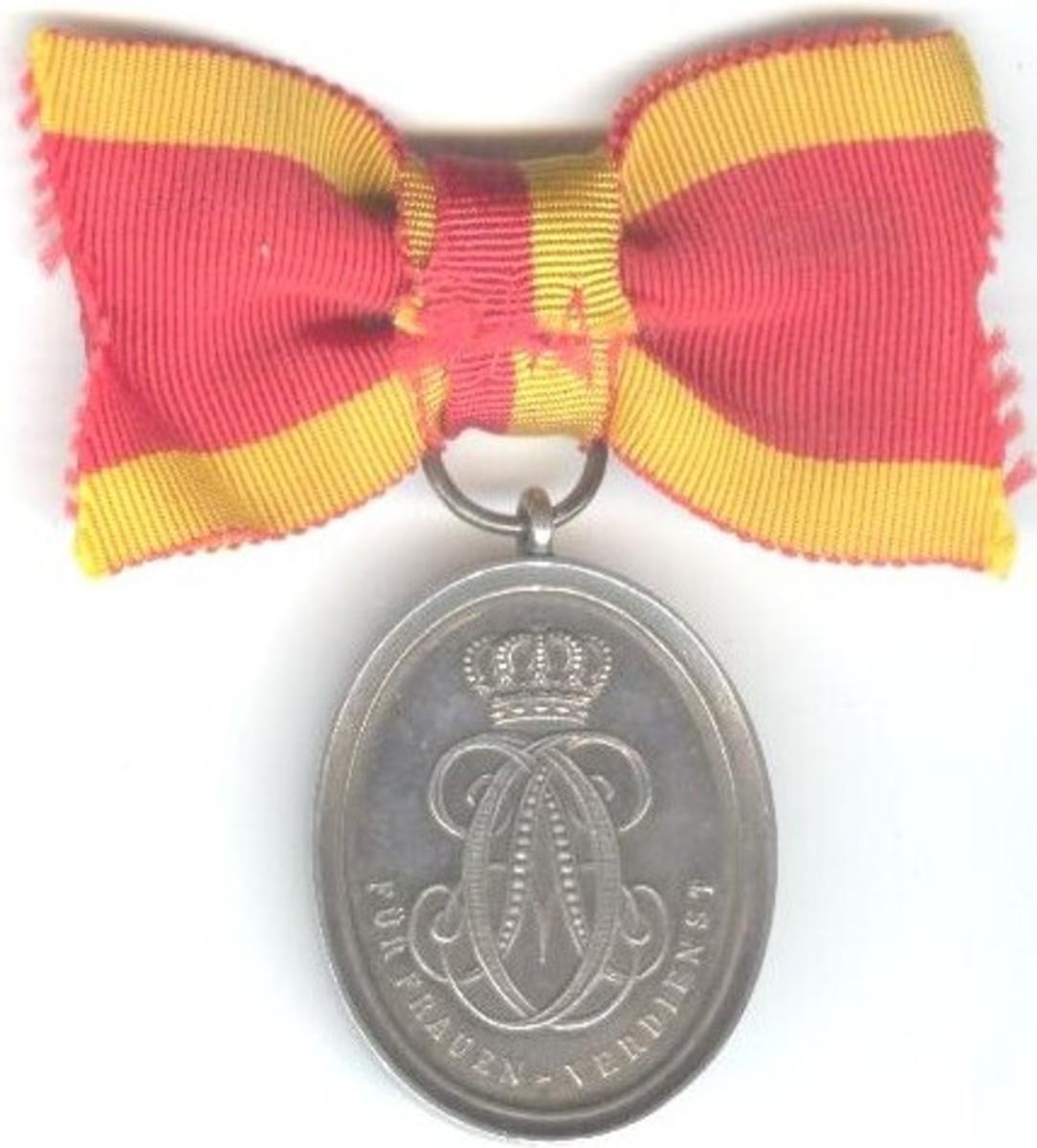 Saxe Weimar medal rev