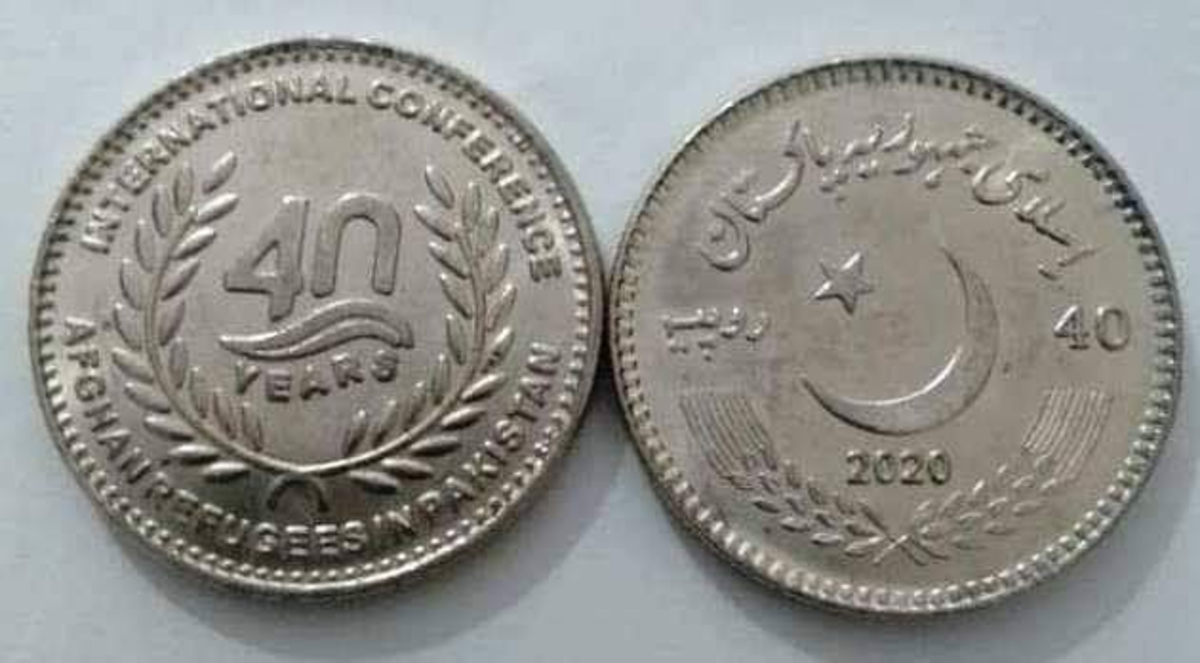 Assigned KM-83, this is the first issued coin of 2020 for the nation of Pakistan. It features a new denomination and commemorates a four-day visit from United Nations Secretary-General António Guterres recognizing Pakistan's generous hosting of millions of Afghan refugees. (Image courtesy of Egon Conti Rossini)