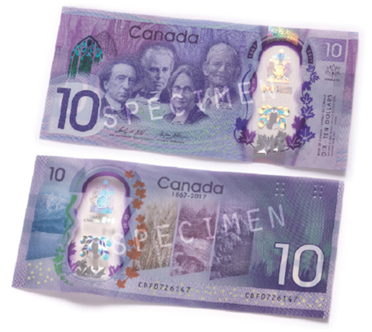 The new commemorative $10 marks only the fourth commemorative note issued by the Bank of Canada. (All images courtesy Bank of Canada)