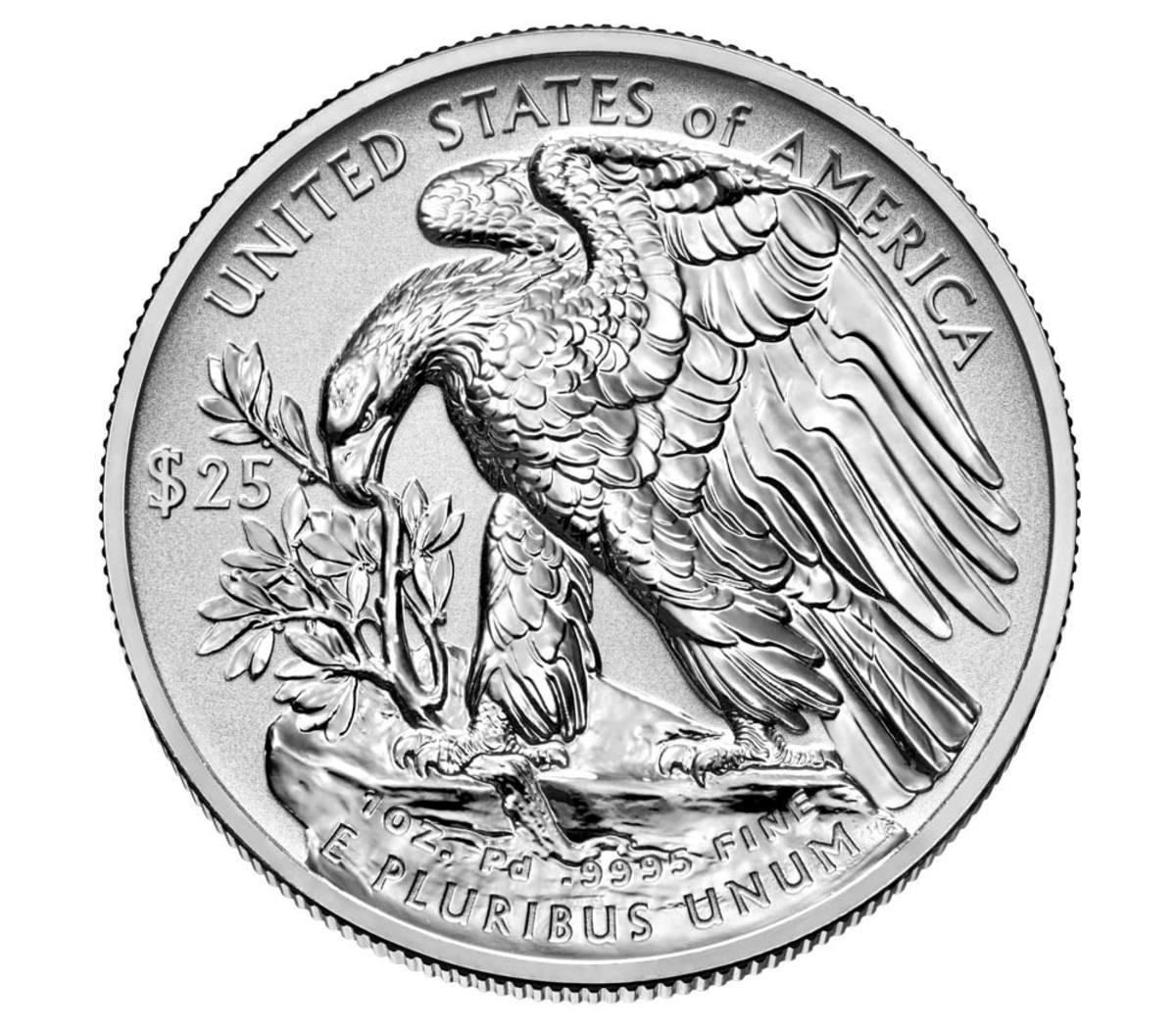 Eagle Palladium Reverse