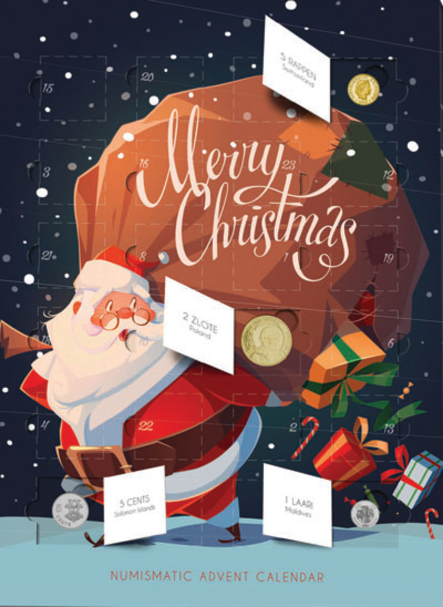 The numismatic Advent Calendar being sold Down Under by Melbourne Mint. (Image courtesy Melbourne Mint)