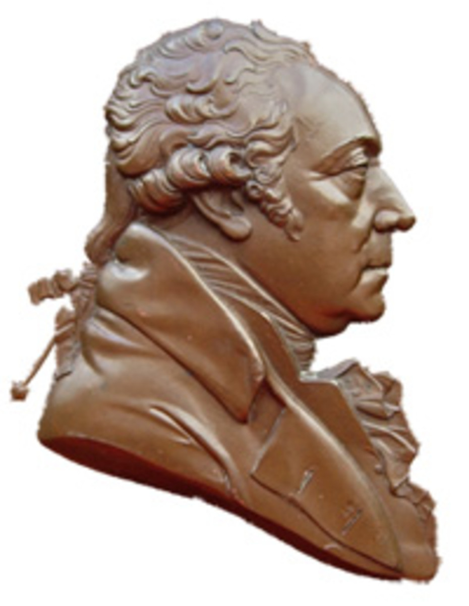 Bust of Matthew Boulton as it appears on an 1819 medal by G.F. Pidgeon and struck by Matthew Robinson Boulton to commemorate the 10th anniversary of his father's death. (Image courtesy and © Chris Leather www.sohomint.info)