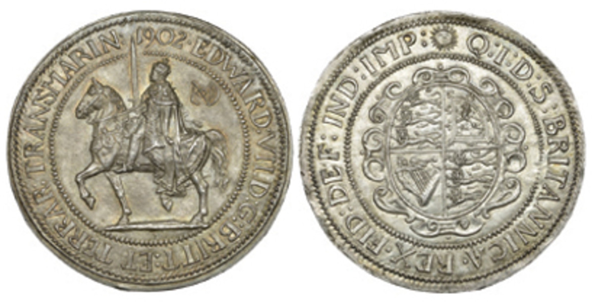 Much desired 1902 pattern crown of Edward VII by Spink (ESC-3563), which sold for double upper estimate or $15,420. (Images courtesy DNW)