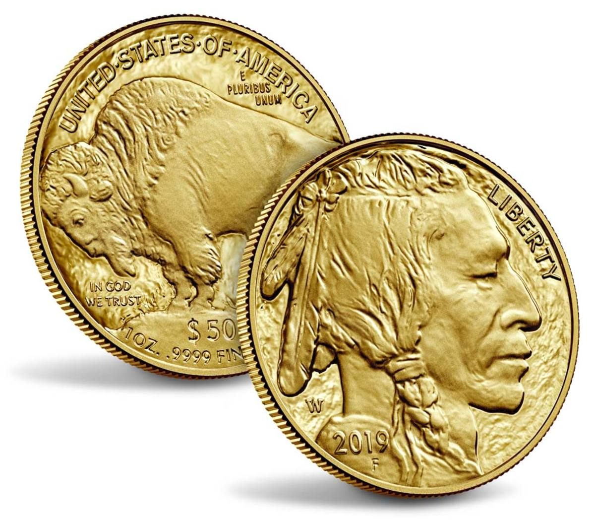 Shown is the American Buffalo 2019 Once ounce Gold Proof Coin. (Image courtesy of U.S. Mint.)
