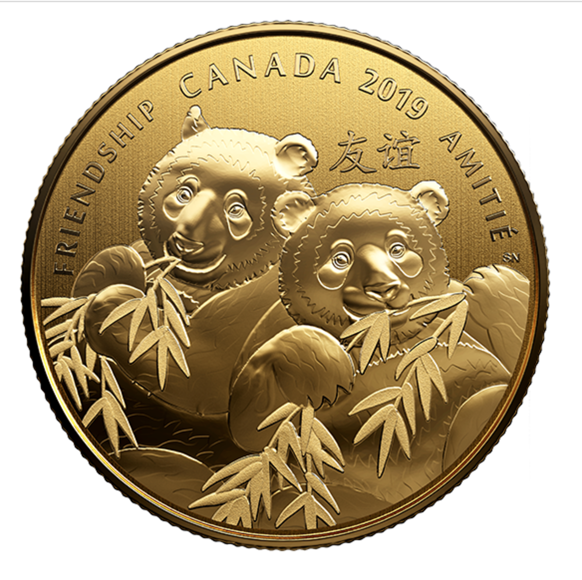 Gift of Friendship Coin. Image courtesy of the Royal Canadian Mint