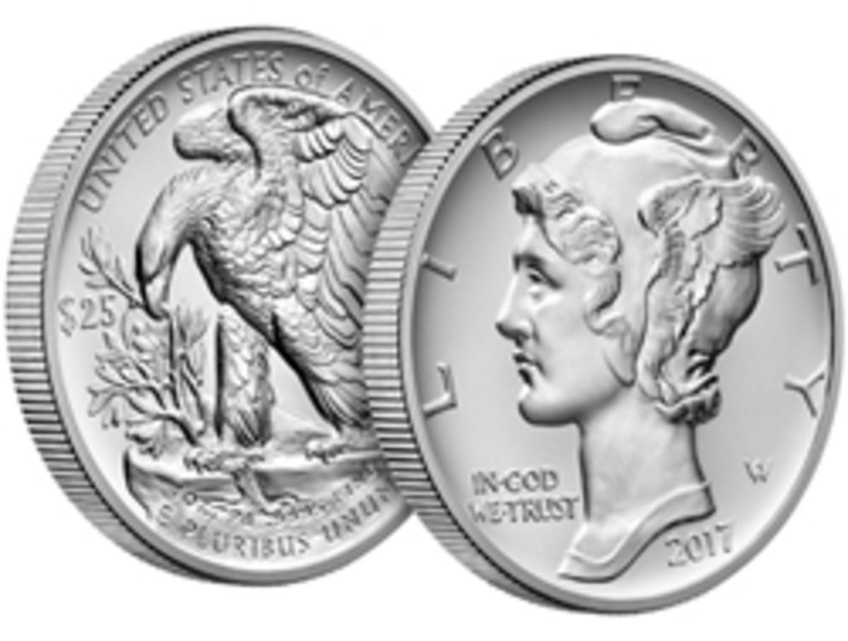 2017 $25 American Eagle palladium bullion coin (Image courtesy www.usmint.gov)