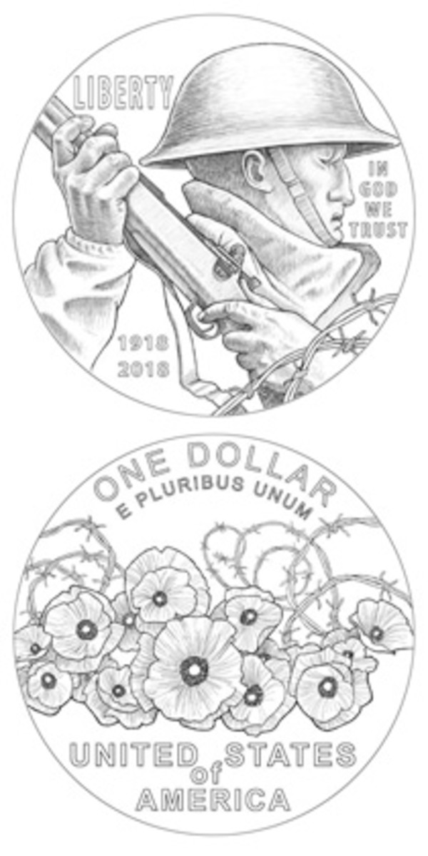 Utah artist LeRoy Transfield designed both obverse and reverse of the World War I silver dollar to be issued in 2018.
