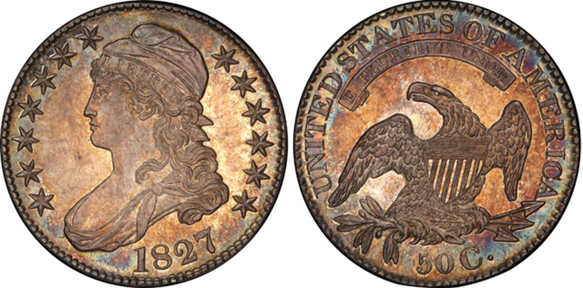 Silver coinage had a large turnout with this 1827