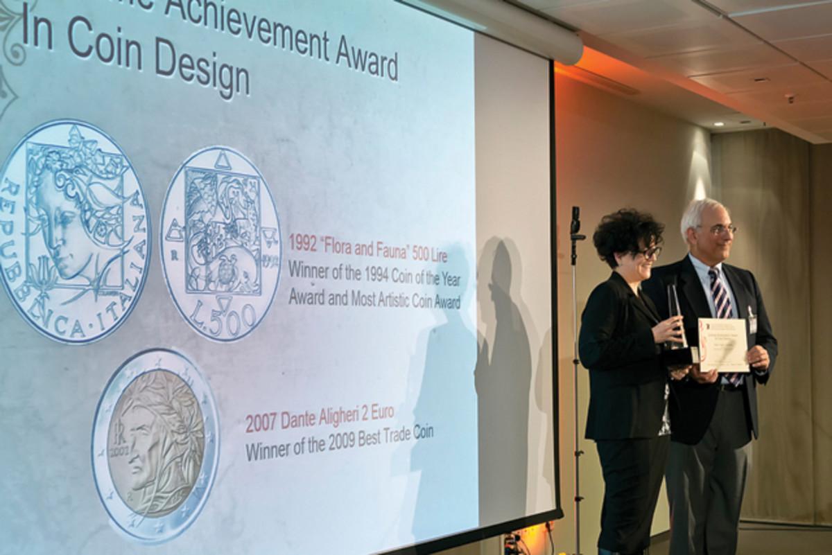 Maria Carmela Colaneri accepts the Lifetime Achievement Award.