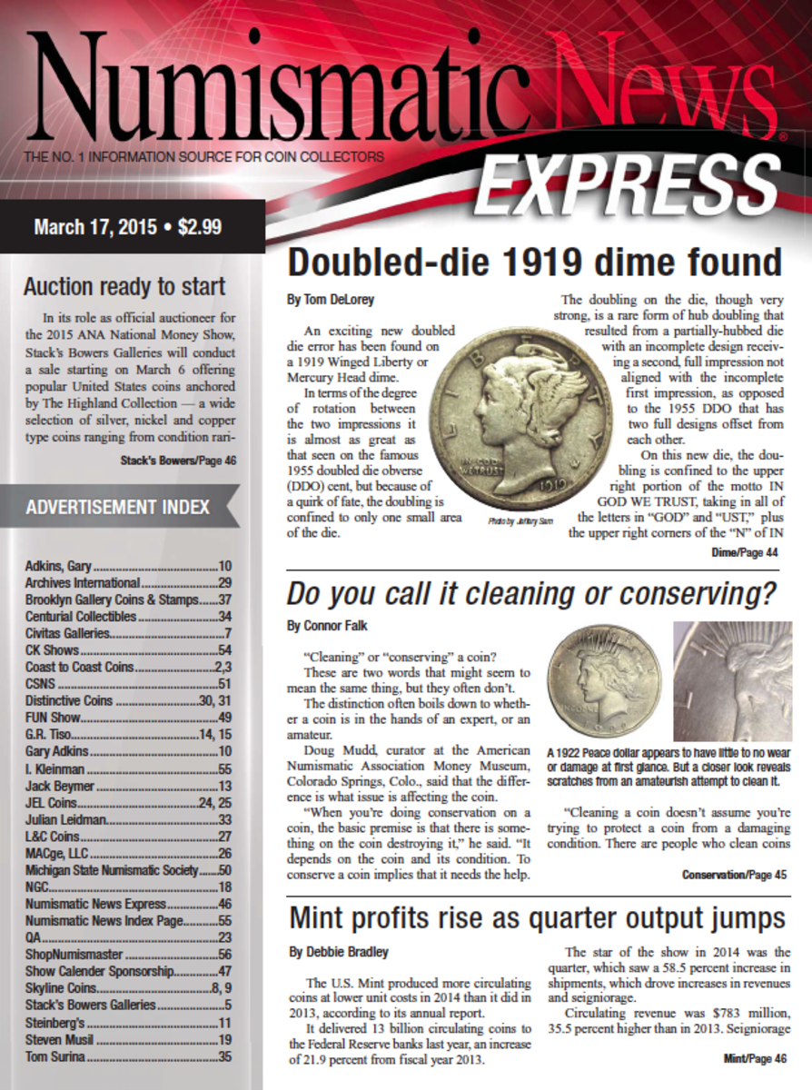 Download your copy of the latest Numismatic News Express today!