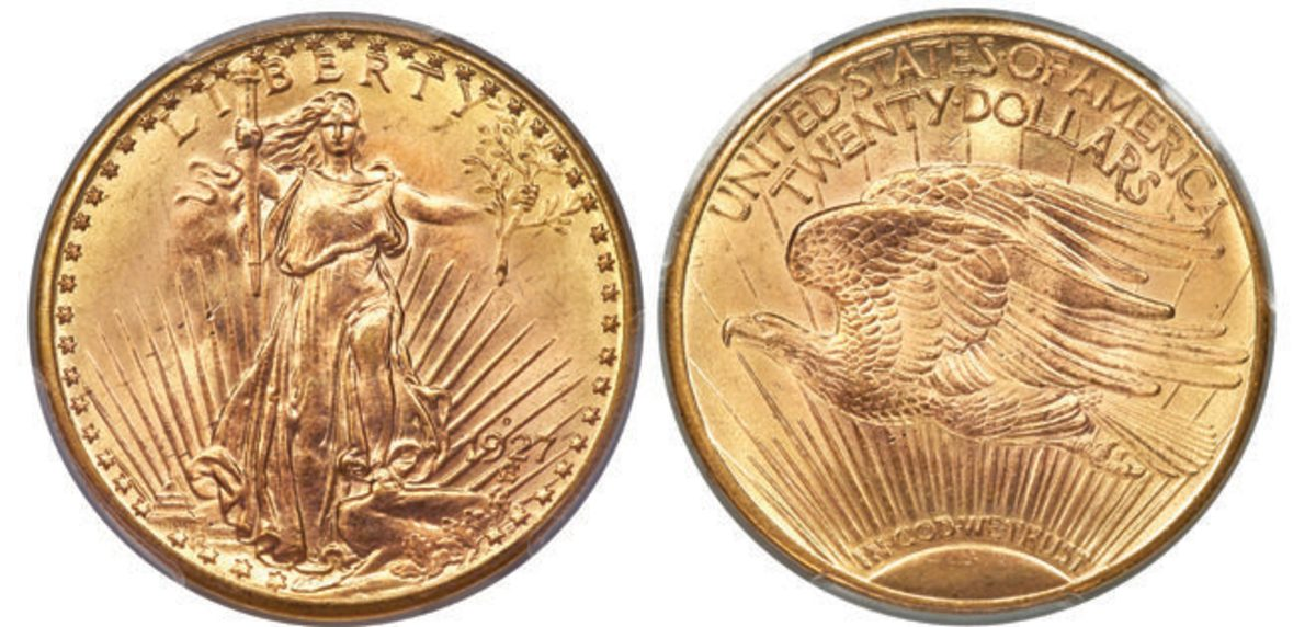 The 1927-D double eagle that led the U.S. coins section of the