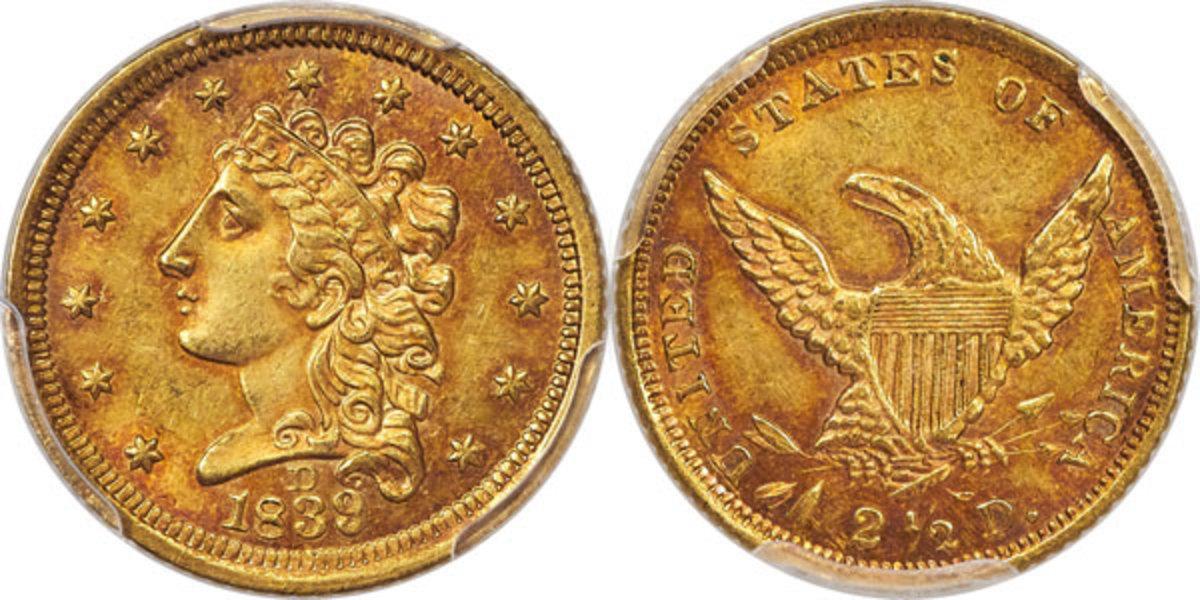 1829-D Quarter Eagle