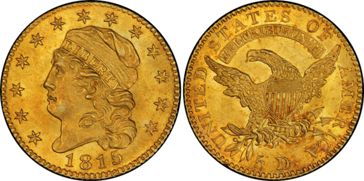 Third highest lot for the sale was this 1815
