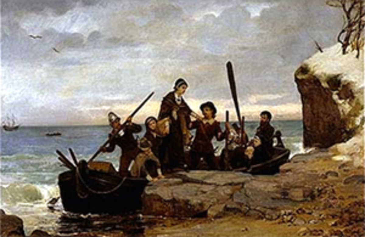 'The Landing of the Pilgrims' by Henry A. Bacon, 1877.