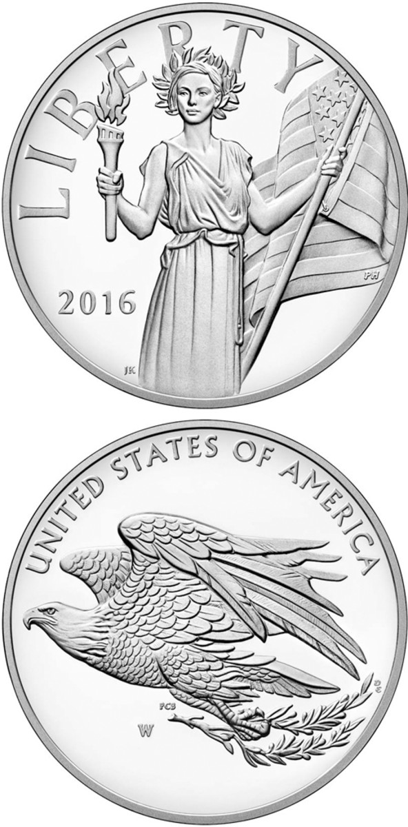 The silver Liberty medal proved popular with buyers.