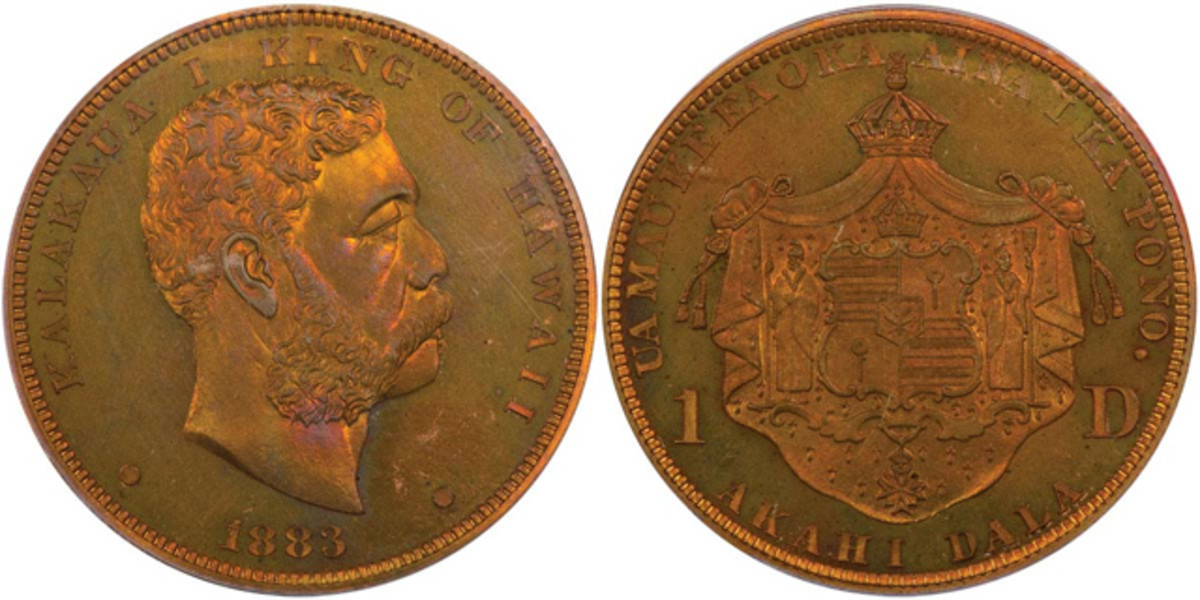 Star of the auction was this 1883 Hawaii pattern dollar purchased for $117,500.