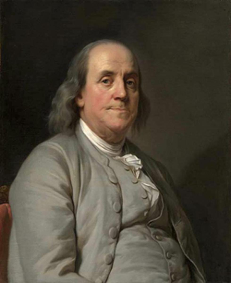 Benjamin Franklin (Image courtesy Joseph Duplessis [Public domain], via Wikimedia Commons)