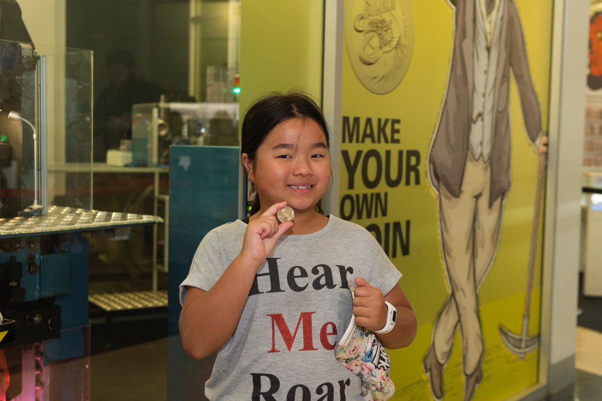 Caitlin Pang, First Coin of the Year Winner. Image courtesy Royal Australian Mint