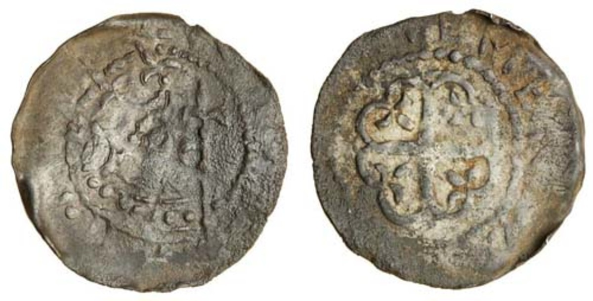 Very rare 0.78 g penny of Matilda, would-be Queen of England (cf. S-1326) sourced from the Coed-y-Wenallt hoard. In aF, it sold for $7,860. (Images courtesy and © Spink)