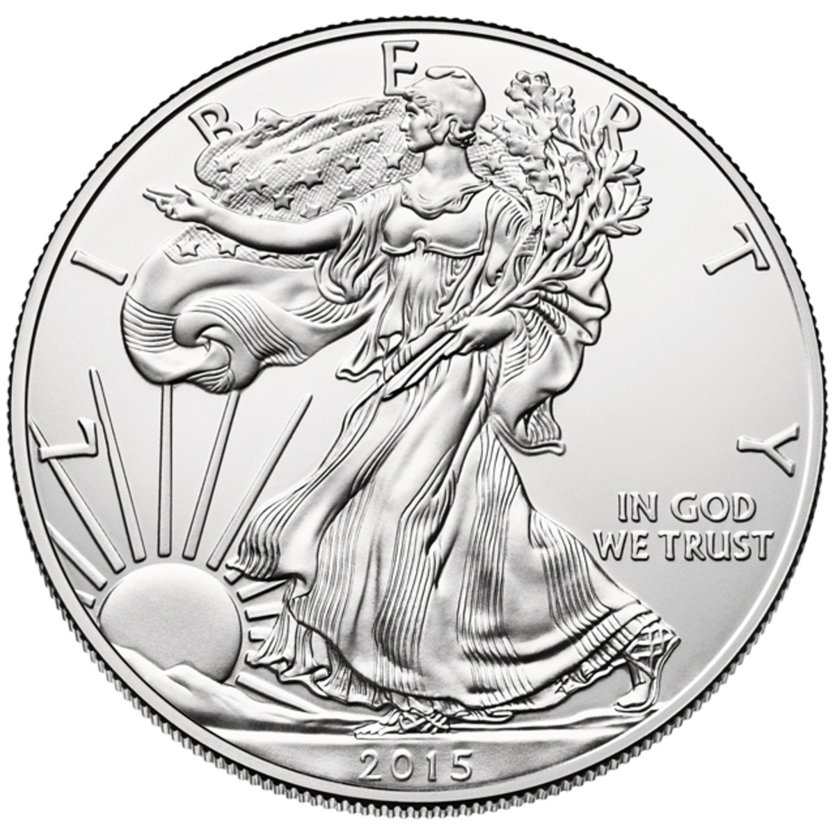 The 2015 silver Eagle set a new annual sales record on Nov. 30 - and still has room to improve on it.