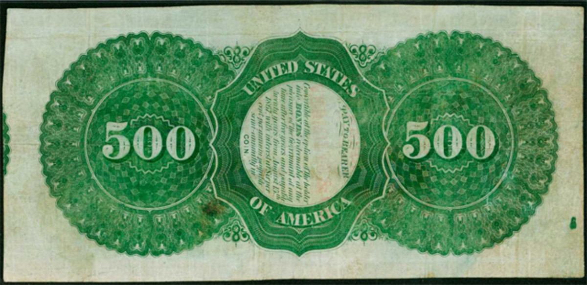 Reverse side of the note.