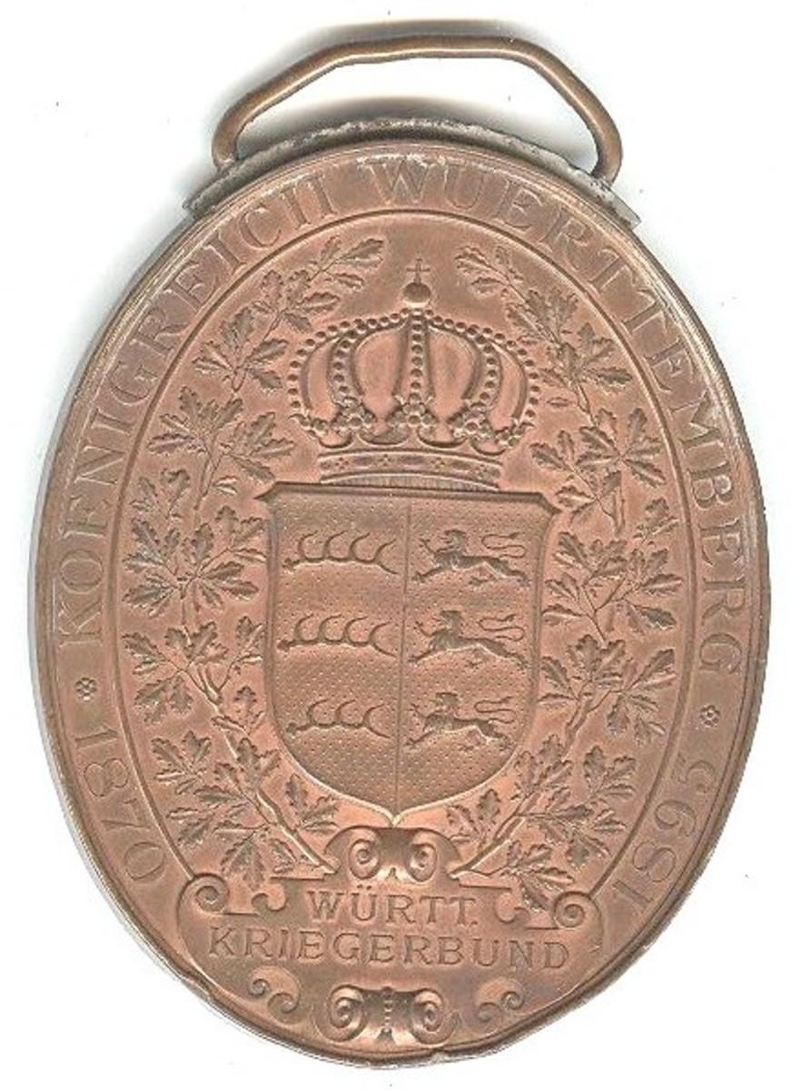 Wuerttemberg Flag Medal reverse