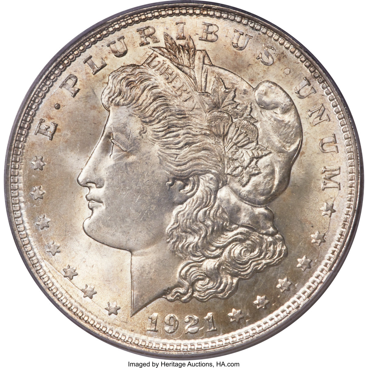 1921 Morgan Dollar. Image courtesy of Heritage Auctions