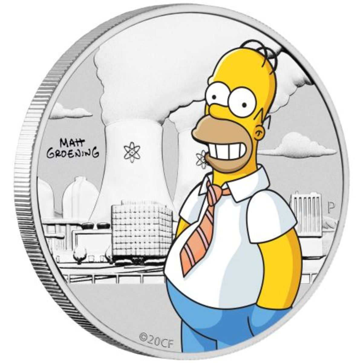 New Homer Simpson coin from the Perth Mint. THE SIMPSONS TM & © Twentieth Century Fox Film Corporation. All Rights Reserved.