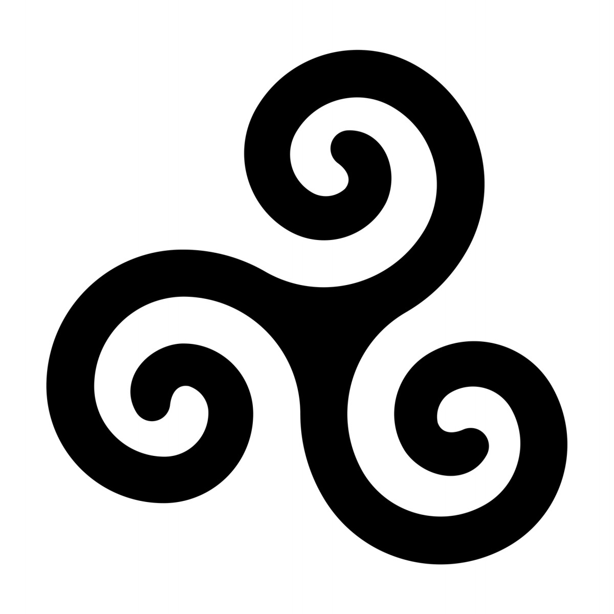 The Triskelion symbol.