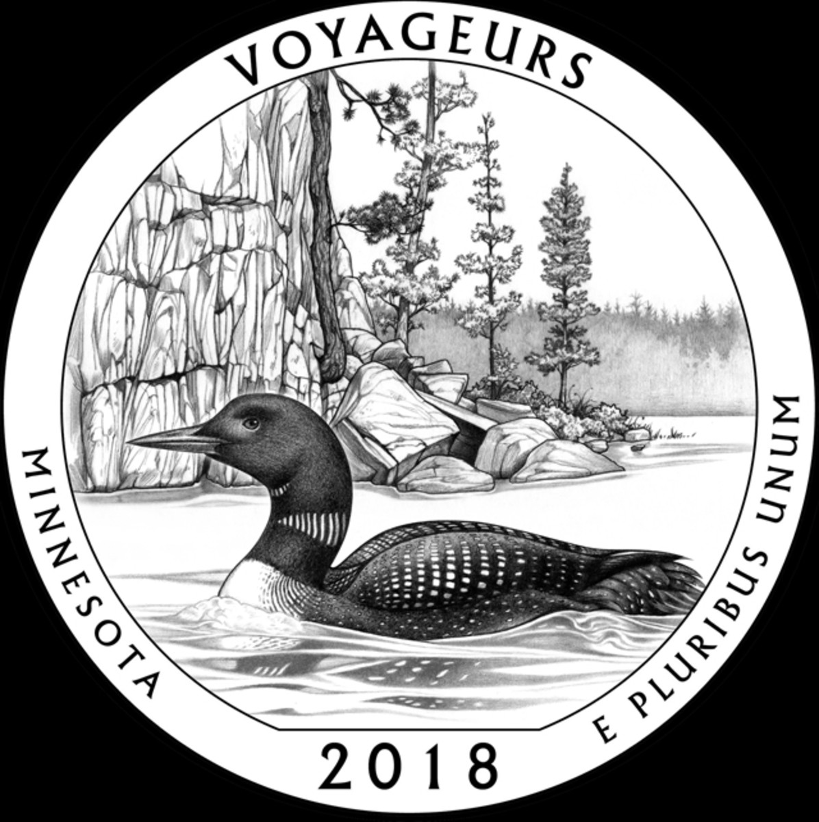 Design MN-06 was CCAC's choice for Minnesota's Voyageurs quarter.