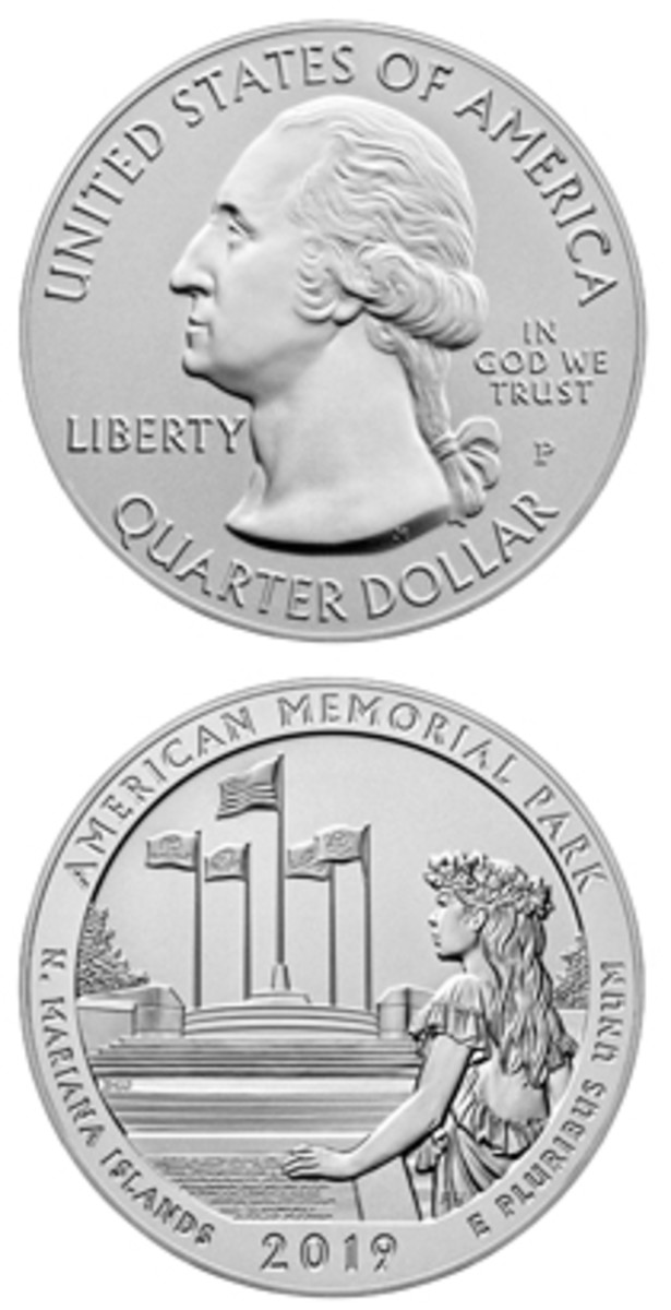 The American Memorial Park uncirculated five-ounce is the second released in 2019 as part of the America the Beautiful program.