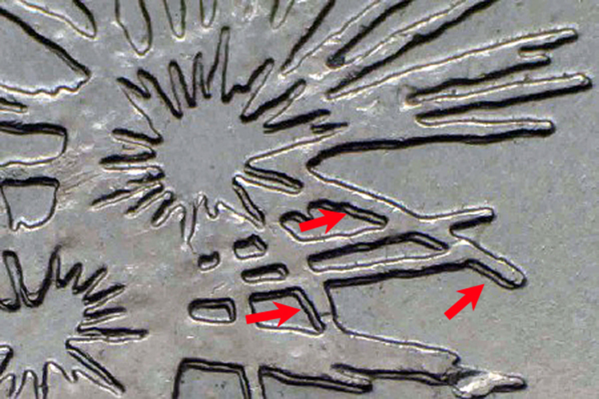 Fireworks over Fort McHenry are doubled on the 2013-P Maryland quarter.