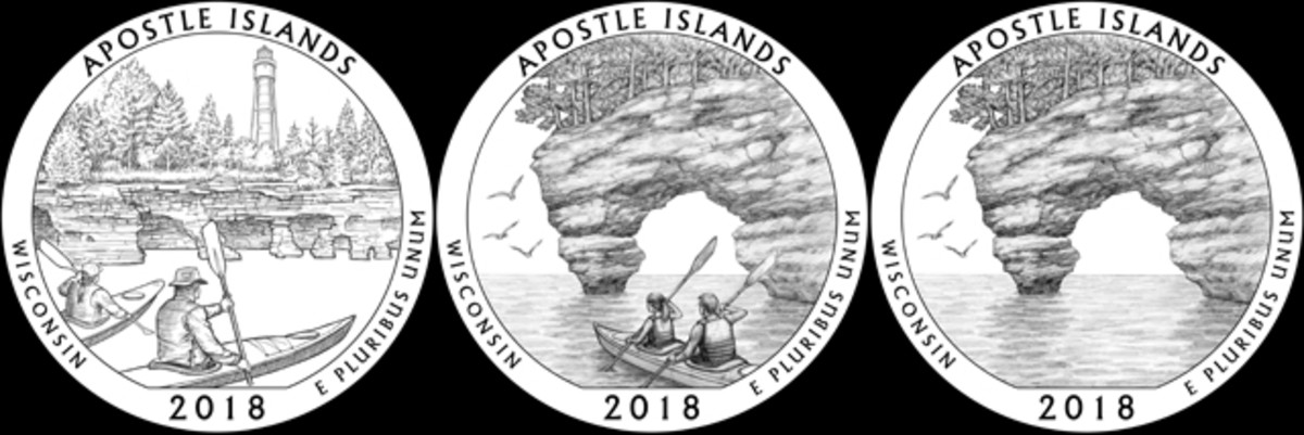 CCAC reviewed designs WI-01, WI-04 and WI-04a for Wisconsin's Apostle Islands quarter but did not come to a decision and asked the artists to reconsider them.