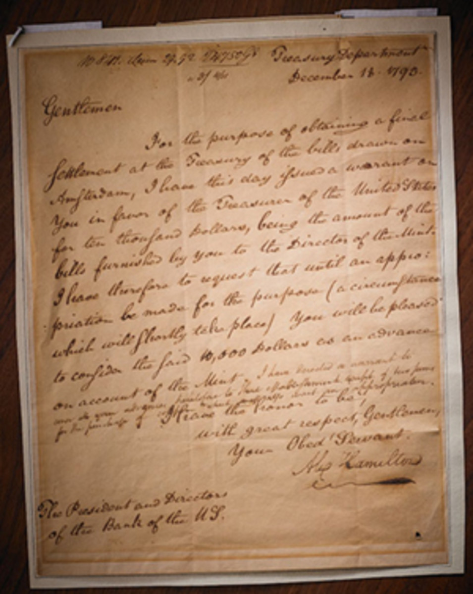 A letter by Alexander Hamilton will highlight a Rago auction June 9.