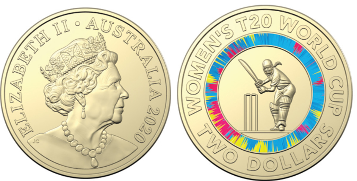 The new coin featuring female cricket player, Alyssa Healy, on the reverse. Images courtesy Royal Australian Mint.