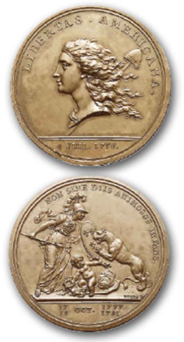 The Libertas Americana medal served multiple meaningful purposes when Benjamin Franklin commissioned artist/engraver Augustin Dupré to create the design. (Image courtesy Stack's Bowers)