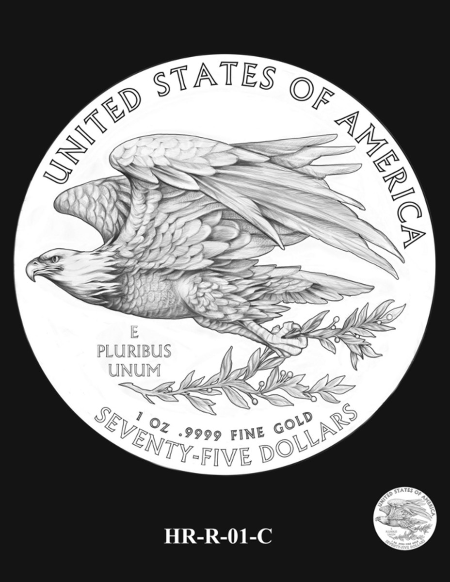 The CCAC unanimously recommended this reverse design as the reverse to the 2015 high relief gold coin and silver medal.