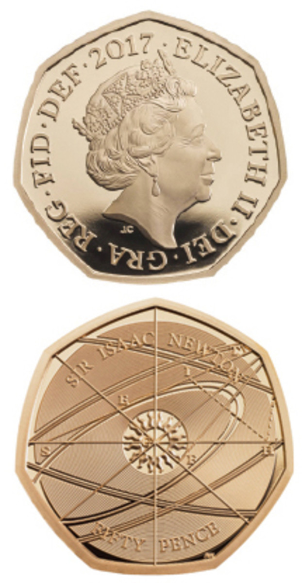 Only 375 of the 2017 Sir Isaac Newton 50-pence coins were initially released.