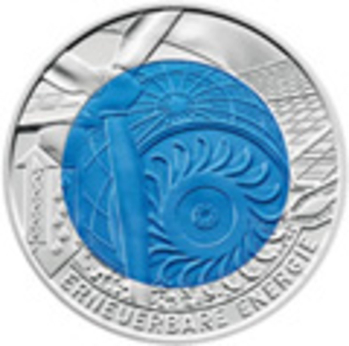 2010 Austria Silver-Niobium Renewable Energy Coin