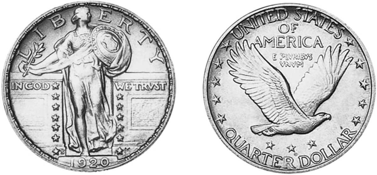 Looking for a good deal on a high grade Standing Liberty quarter? The 1920-S is a rarity in MS-65, epecially with a full head, and has seen a large price drop since 1998.