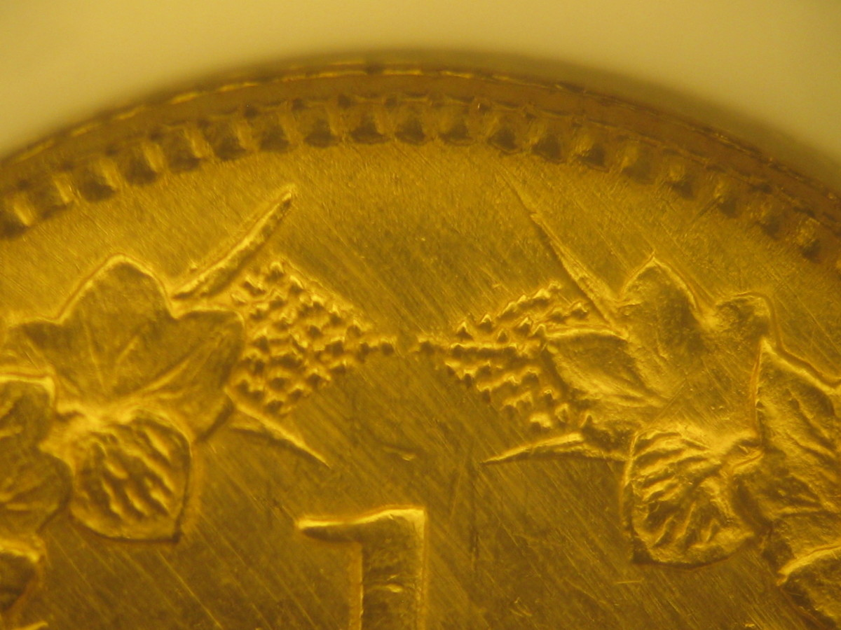 """Figure 2: Genuine coin with """"Mint Quality"""" sharpness."""