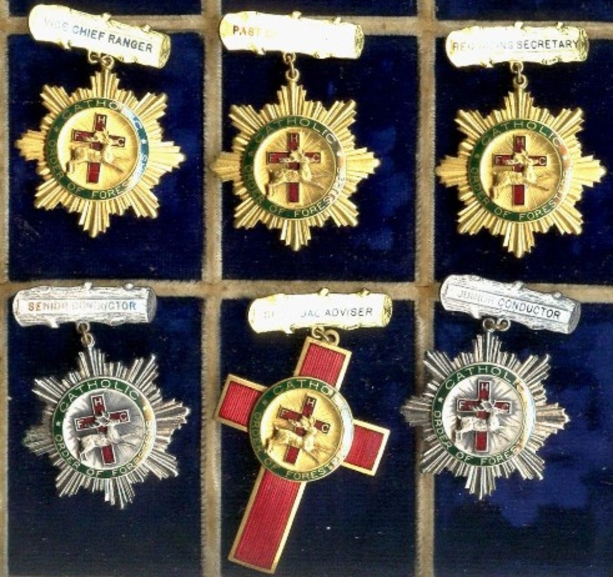 Catholic Order of Foresters, medals, ranks,