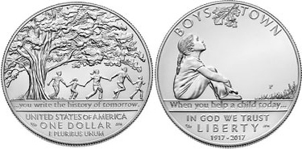 Most Inspirational Coin — United States Mint — 1 Dollar, Silver — Boys Town Centennial Commemorative