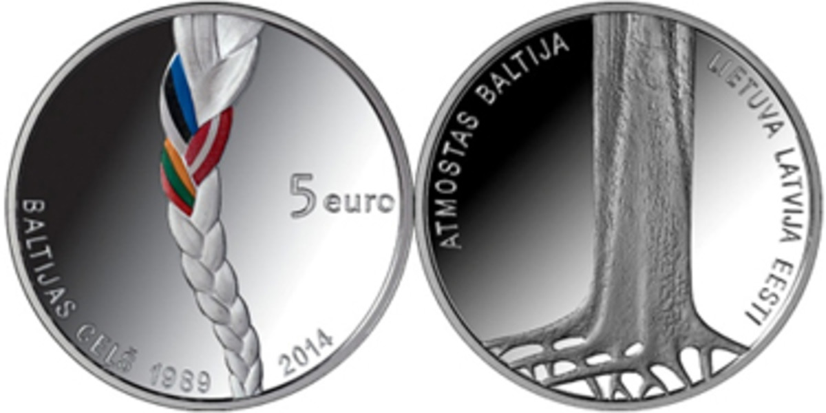 Latvia's Best Contemporary Event Coin winner.